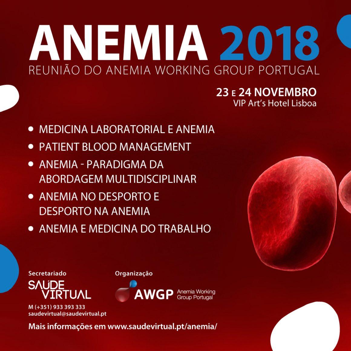 """""""Anemia 2018 – À Procura de Novos Paradigmas"""": Reunião decorre em novembro"""